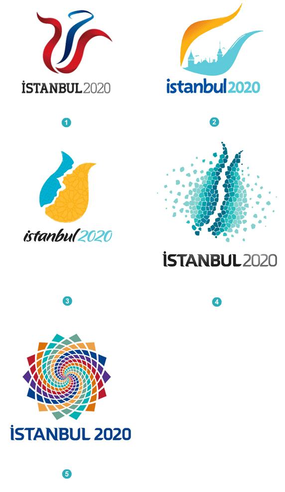 Istanbul2020 bid logo competition 2020奥运申办淘汰2城市,东京马德里等3城Logo升级