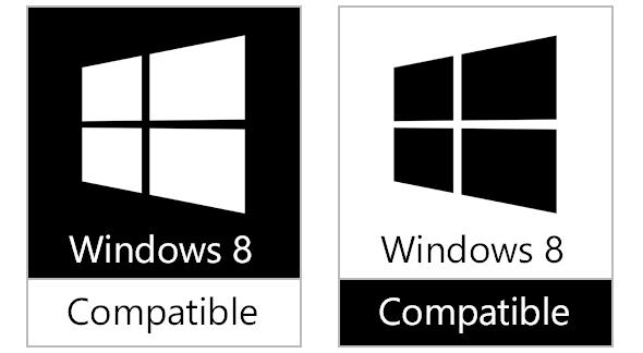 Windows 8兼容Logo曝光――黑色