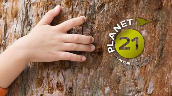 """雅高集团""""21世纪地球""""项目logo"""