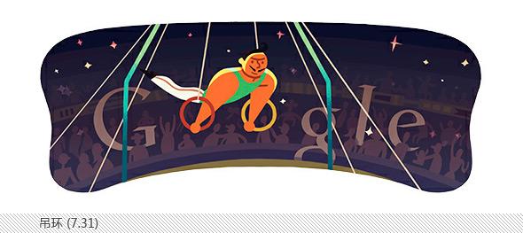 伦敦奥运会谷歌不同主题涂鸦合辑-吊环