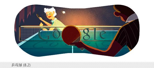 伦敦奥运会谷歌不同主题涂鸦合辑-乒乓球