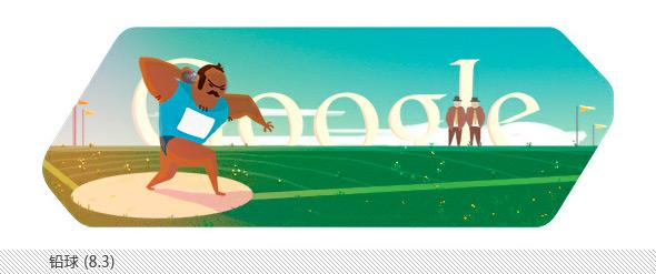 伦敦奥运会谷歌不同主题涂鸦合辑-铅球