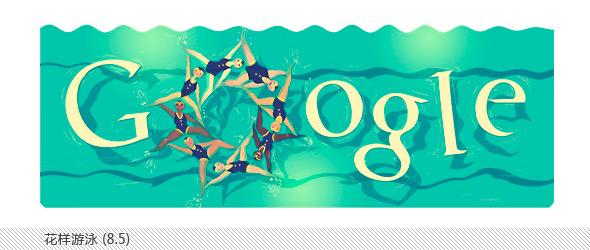 伦敦奥运会谷歌不同主题涂鸦合辑-花样游泳