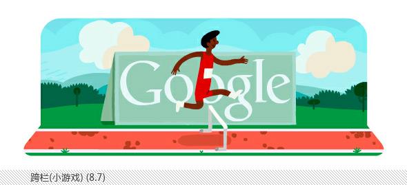 伦敦奥运会谷歌不同主题涂鸦合辑-跨栏