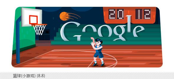 伦敦奥运会谷歌不同主题涂鸦合辑-篮球