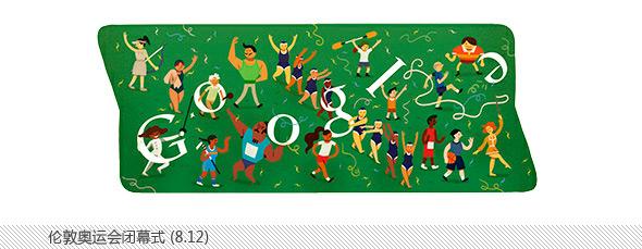 伦敦奥运会谷歌不同主题涂鸦合辑-闭幕式
