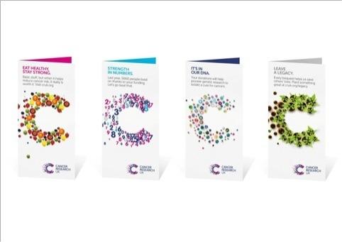 Cancer Research UK leaflets logo 英国癌症研究院启用新Logo