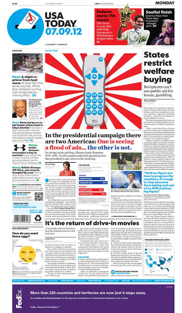 usa today newspaper 美国第二大报纸《今日美国》报(USA Today)换新Logo