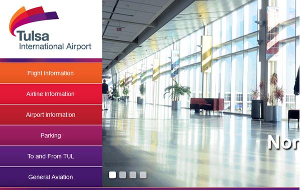 tulsa airport logo 美国塔尔萨国际机场启用新Logo