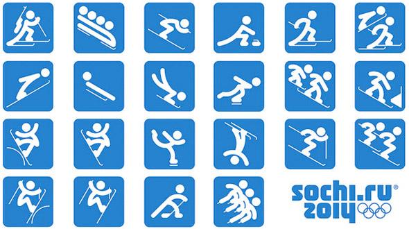 2014年索契冬季奥运会运动项目图标