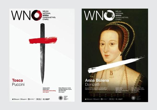 威尔士国家歌剧院(The Welsh National Opera)新标志