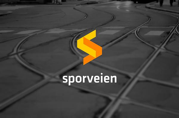 "Sporveien logo 3 挪威首都奥斯陆电车系统""Sporveien""新Logo"