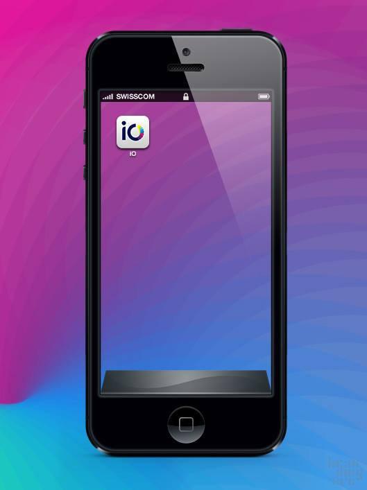 """swisscom io logo 4 瑞士电信新推的网络电话应用""""iO""""品牌标识"""