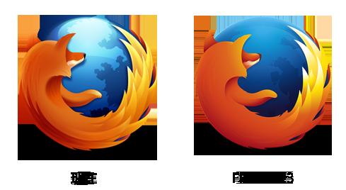 firefox logo Firefox 23 Beta1发布 Logo走向扁平化