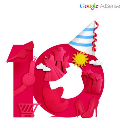 google adsense10years Google AdSense十周年品牌形象