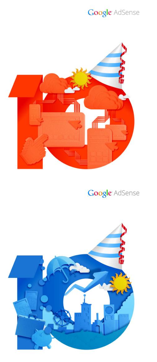 google adsense10 01 Google AdSense十周年品牌形象