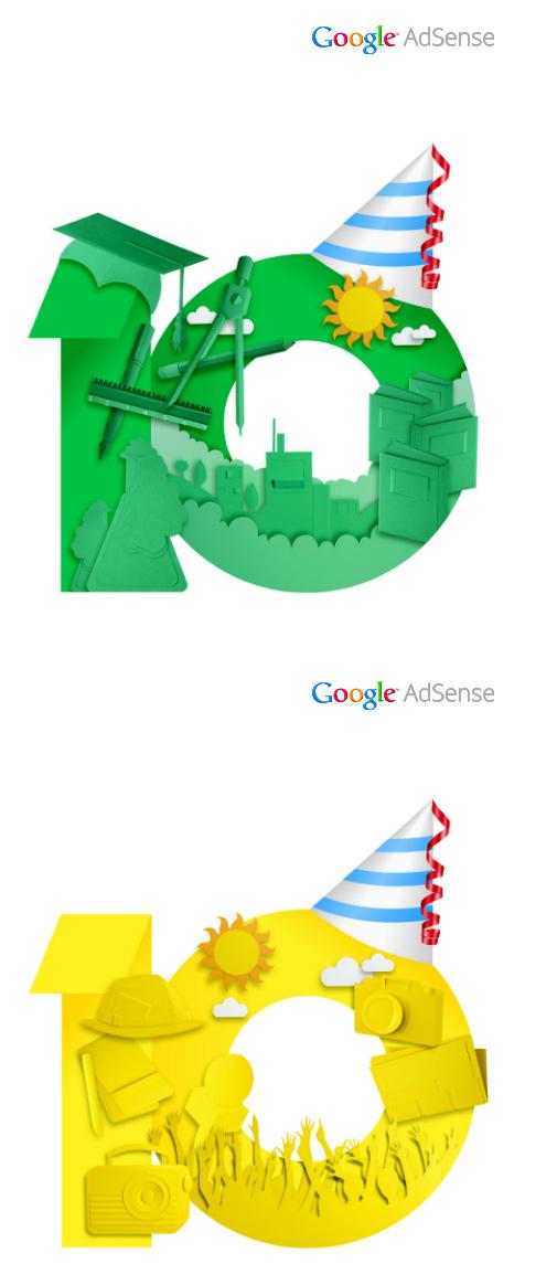 google adsense10 04 Google AdSense十周年品牌形象