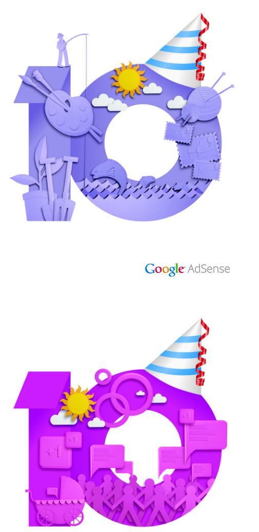 google adsense10 05 Google AdSense十周年品牌形象