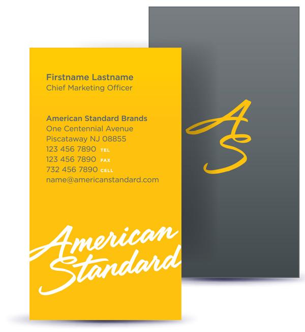 american standard 03 AS business card 著名卫浴品牌American Standard(美标)新Logo