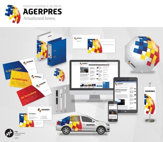 Overview noua identitate AGERPRES 罗马尼亚国家通讯社Agerpres启用新Logo