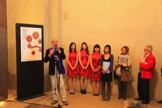佛罗伦萨省政府主管Renzo Crescioli 出席展览并致词