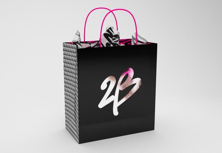 "2b bebe bag 美国知名女装零售商碧碧旗下品牌""2b""新Logo"