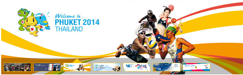 phuket 2014 emblem mascot 2014年亚洲沙滩运动会会徽和吉祥物
