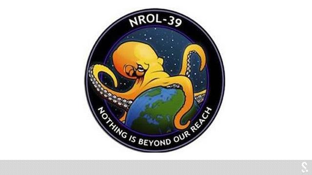 """美国NROL-39卫星的""""任务徽章"""""""