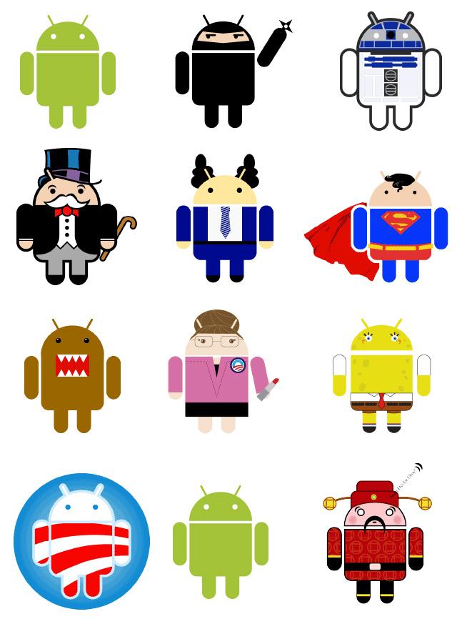 Android机器人背后的女人