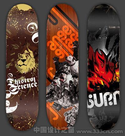 40个漂亮的滑板设计