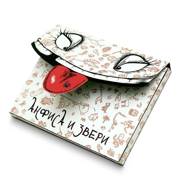 Anfisa 小动物明信片 贺卡设计 版式设计 视觉