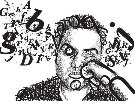视觉艺术 视觉传达 创意设计Typographic Portrait by PopeyeFrancom 50