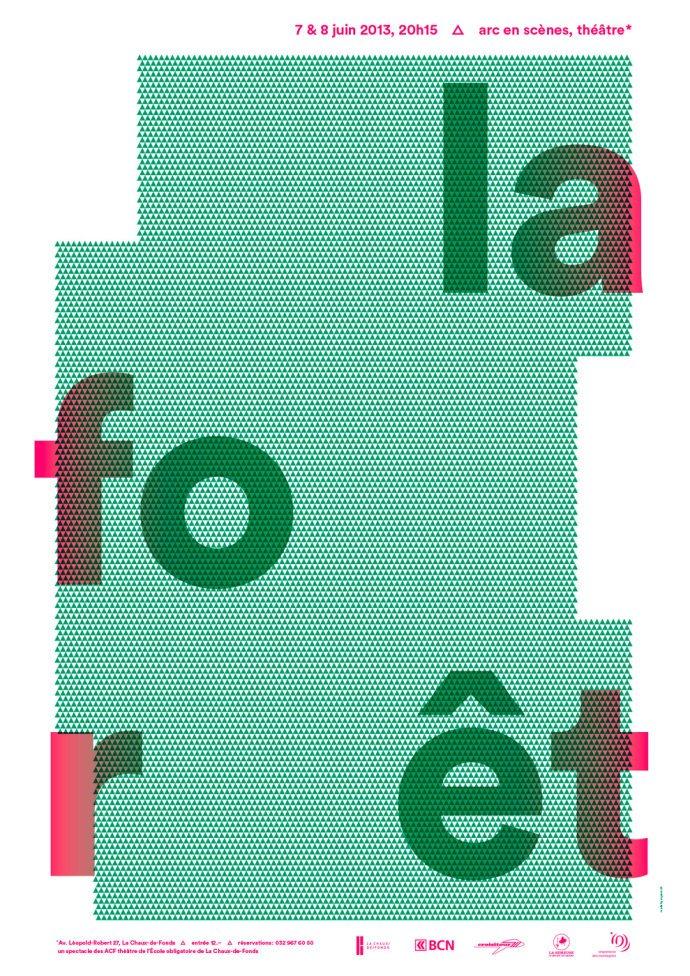 平面海报设计中的文字排版