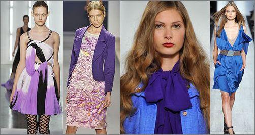 09春夏 设计师钟情蓝和紫