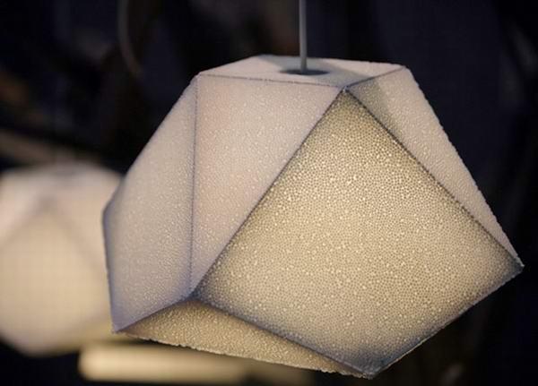 flake eps foam lamp