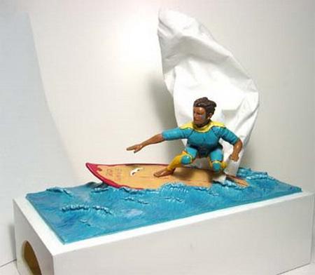 Surfer Tissue Box Cover