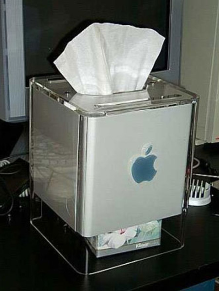 Apple G4 Cube Tissue Box