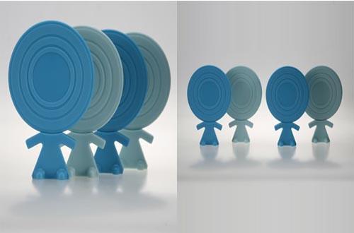 有趣的英国品牌J-ME创意大头娃娃杯垫
