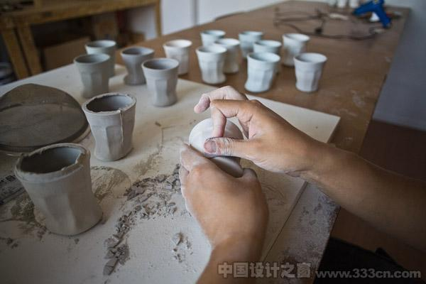 Hand made of the cups, finishing differently