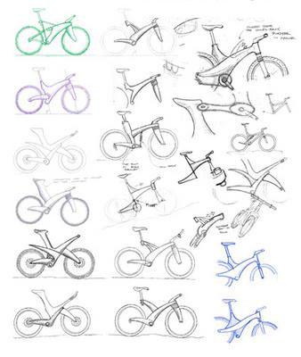自行车设计草图