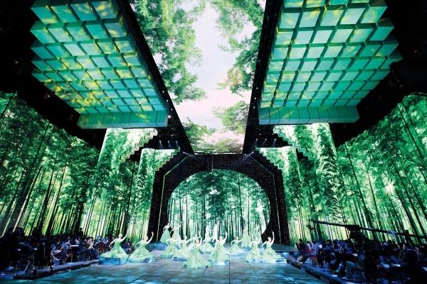 1月13日,春节晚会第一次彩排――杂技《空山竹语》