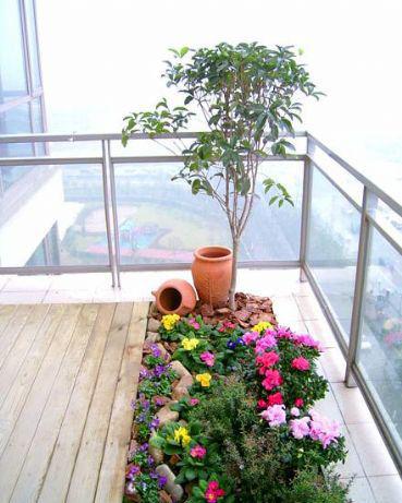 屋顶花园的植物装饰设计