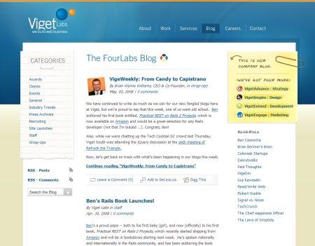 Blog Showcase - Four Labs