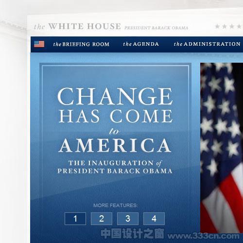 White House Website Showing New Branding