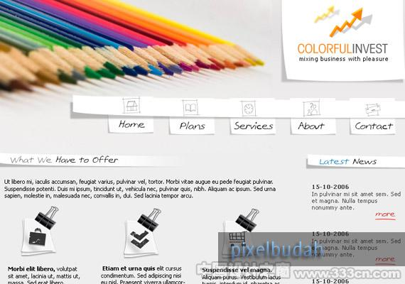 Colorful Business webdesign-inspiration