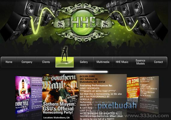 Hussle Hard Entertainment design-inspiration