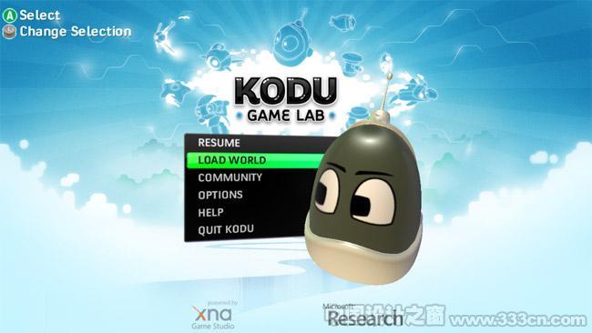 可视化游戏制作工具 Kodu界面