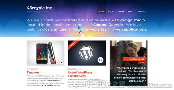 25个运用绚丽光效的网站设计欣赏