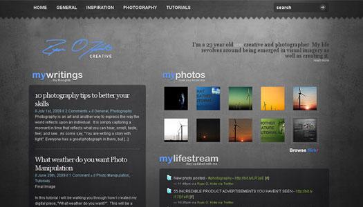 网页 设计 博客 创意 欣赏