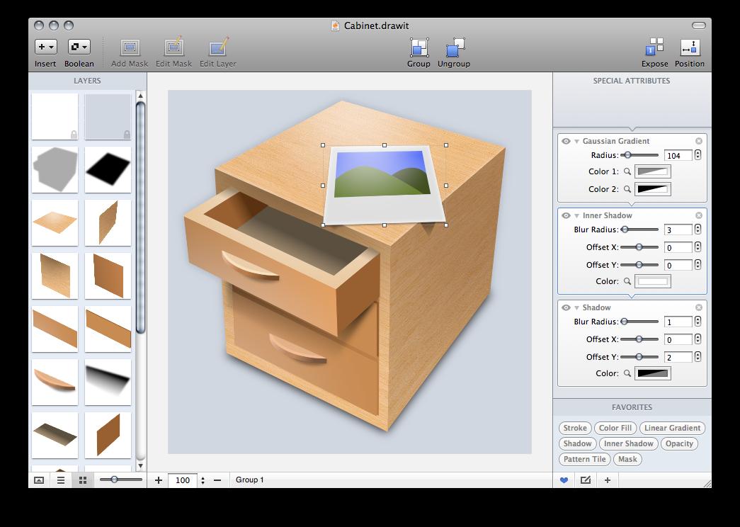 ui mac 绘图软件 界面 交互